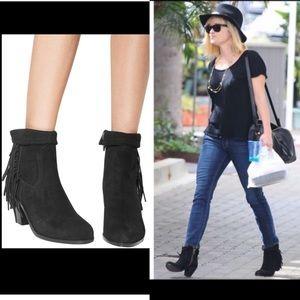 Sam Edelman Western Fringe Black Boots Size 9.5W